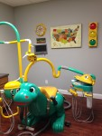 Our kid's operatory with the Dino chair!